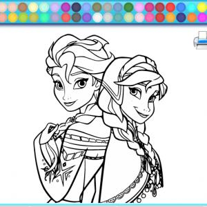 Play Frozen Coloring Book Games
