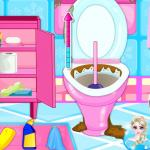 Pregnant Elsa Bathroom Cleaning