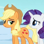 Rarity And Applejack